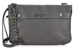 Jessica Simpson Logo Faux Leather Crossbody Bag