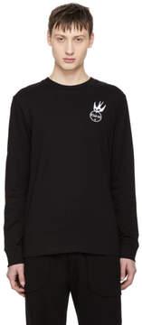 McQ Black Long Sleeve Swallow Badge T-Shirt