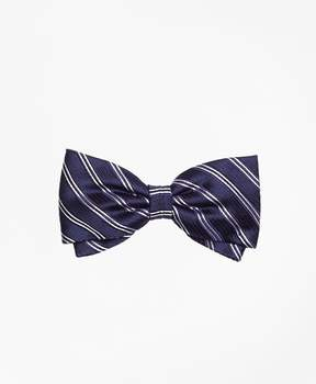 Brooks Brothers Framed Narrow Stripe Pre-tied Bow Tie