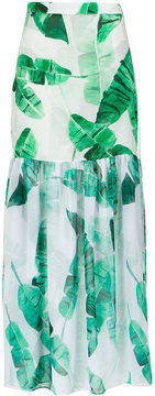 BRIGITTE 'Lilian' foliage print skirt
