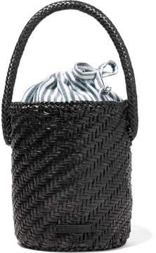 Loeffler Randall Cleo Woven Leather Bucket Bag - Black
