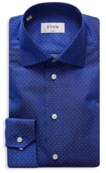 Eton Slim-Fit Micro Print Shirt