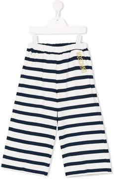 Moschino Kids striped straight trousers