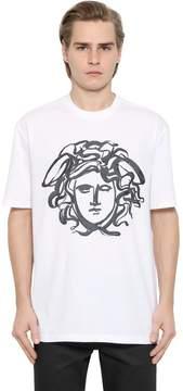 Paint Effect Medusa Jersey T-Shirt