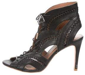 Joie Leather Lace-Up Sandals