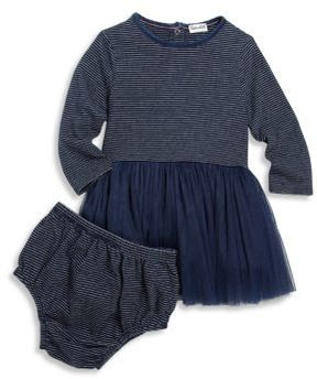 Splendid Baby's Two-Piece Striped Tulle Dress & Bloomers Set