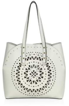 Furla Aurora Medium Cutout Leather Tote