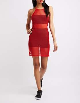 Charlotte Russe Fishnet Bodycon Dress