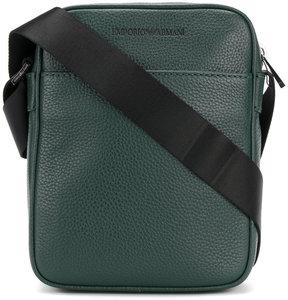 Emporio Armani logo embossed crossbody bag