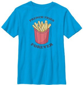 Fifth Sun Turquoise 'French Fries Forever' Crewneck Tee - Boys