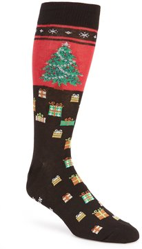 Hot Sox Christmas Tree No-Skid Crew Socks