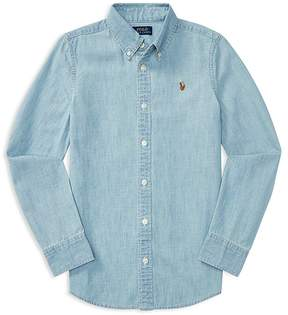Polo Ralph Lauren Girls' Chambray Shirt - Big Kid