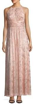 Eliza J Halterneck Metallic Gown