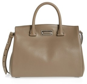 Max Mara Medium Hollywood Leather Handbag - Grey
