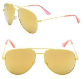 Saint Laurent 55MM Fluro Aviator Sunglasses
