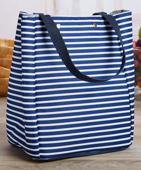 Fit & Fresh Navy Nautical Stripe Memphis Insulated Lunch Bag