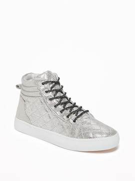 Old Navy Quilted Metallic High-Tops for Girls