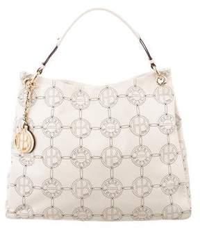 Henri Bendel Perforated Leather Shoulder Bag