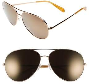 Oliver Peoples Women's Sayer 63Mm Oversized Aviator Sunglasses - Gold/ Gold Bronze Mirror