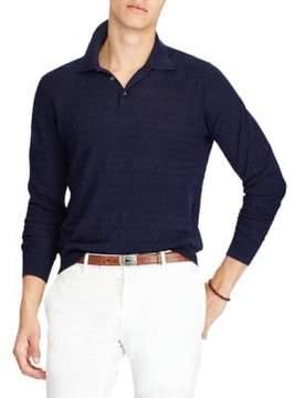 Polo Ralph Lauren Linen Blend Long Sleeve Polo Shirt