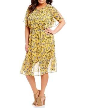 Gibson & Latimer Plus Floral Printed Dress