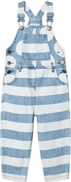 Stella McCartney Blue Spots and Stripes Denim Ruthie Dungarees
