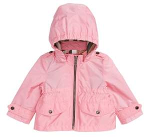 Burberry Mini Halle Hooded Packaway Rain Jacket