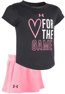 Under Armour Toddler Girl Heart for the Game Tee & Skort Set