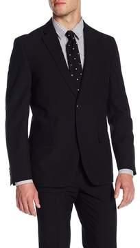 Ben Sherman Solid Black Two Button Notch Lapel Jacket