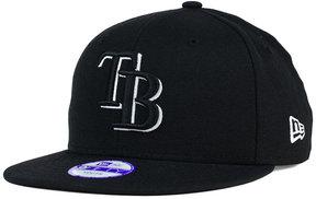 New Era Kids' Tampa Bay Rays Black White 9FIFTY Snapback Cap