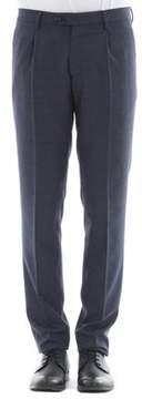 Berwich Men's Blue Wool Pants.