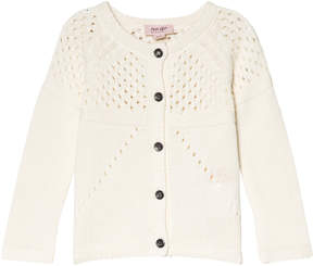 Mini A Ture Noa Noa Miniature Cream Long Sleeve Cardigan