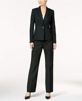 Le Suit Striped One-Button Pantsuit