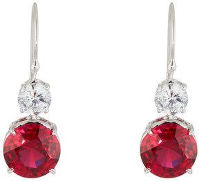 FANTASIA Clear & Ruby-Hued Crystal Double-Drop Earrings