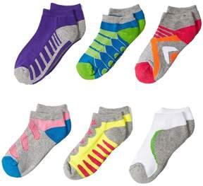 Jefferies Socks Tech Sport Low Cut 6-Pack Girls Shoes