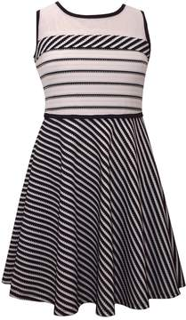 Bonnie Jean Girls 7-16 Knit Sleeveless Striped Dress
