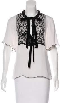Andrew Gn Silk Embellished Top