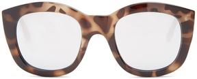 Le Specs Runaways mirrored round-frame sunglasses