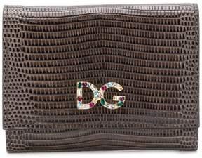 Dolce & Gabbana crystal logo tri-fold wallet