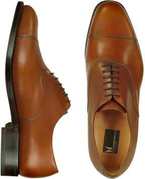 Moreschi Londra - Tan Calfskin Cap Toe Oxford Shoes
