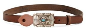 Polo Ralph Lauren Stone Buckle Leather Belt
