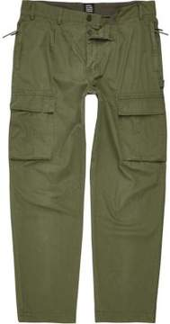 River Island Mens Khaki green Design Forum cargo pants