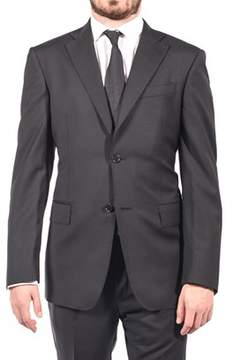 Luciano Barbera Club Men Two Button Wool Suit Black.