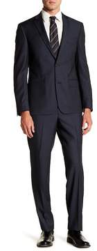Nordstrom Solid Navy Trim Fit Two Button Notch Lapel Wool Suit