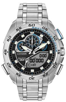 Citizen Men's Eco-Drive Promaster Super Sport Silver/Black Watch