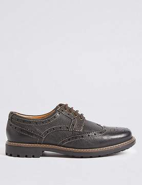 Marks and Spencer Leather Lace-up Heavy Sole Brogue Shoes