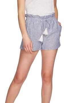 1 STATE 1.STATE Stripe Paperbag Shorts