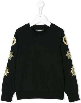 John Richmond Kids crest sleeved sweatshirt