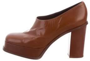 Celine Leather Platform Booties
