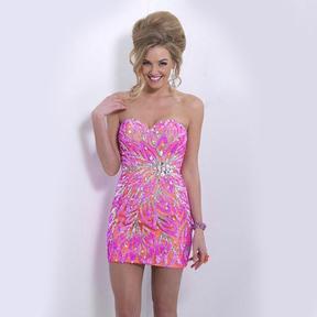 Blush Lingerie X152 Beaded Sweetheart Sheath Dress